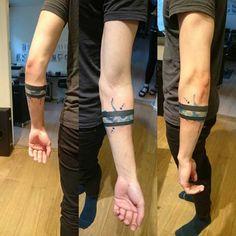 man armband tattoos erkek kol bandı dövmeleri