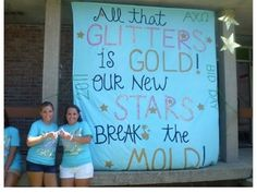 Great banner idea! Awesome Alpha Chi Omega Bid Day Banner.