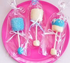 Baby Rattle Marshmallow Pops | Click Pic for 35 DIY Baby Shower Ideas for Girls| DIY Baby Shower Party Favors for Girls