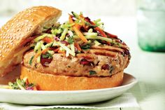 Herb and Cranberry Turkey Burger With Caraway Coleslaw. Prep time: only 15 minutes!