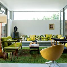 Un salon vert proche de la nature