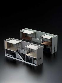Maquette Architecture, Interior Architecture, Small House Design, Modern House Design, Casa Azuma, Home Interior, Interior Design, Casas Containers, 3d Modelle