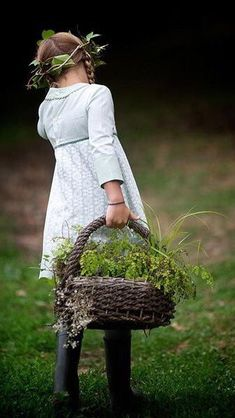 'Gathering herbs in Provence':