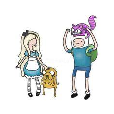 Adventure time meets Alice in wonderland
