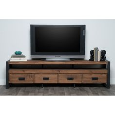 Union Rustic Kylee TV Stand for TVs up to Union Rustic Kylee TV Stand – Heimkino Systemdienste Living Room Tv, Living At Home, Living Room Modern, Small Living, Tv Furniture, Living Room Furniture, Industrial Furniture, Furniture Outlet, Online Furniture