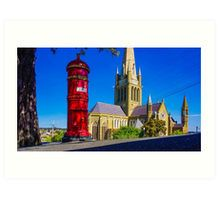 Old Mailbox near Sacred Heart Cathedral - Bendigo, Victoria Art Print