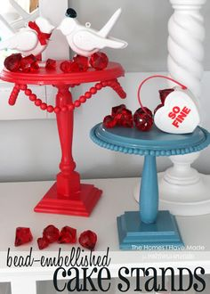 DIY Beaded Cake Stands | Positively Splendid {Crafts, Sewing, Recipes and Home Decor}