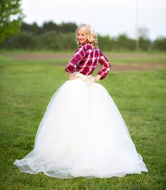 ball gown wedding dress with a pop of plaid  @Style Unveiled, @Davia Lee Events, @Danielle Capito