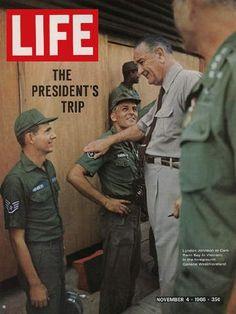 LIFE Magazine November 4, 1966 - President Johnson in Vietnam