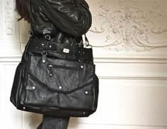 Lady Black Baby Bag