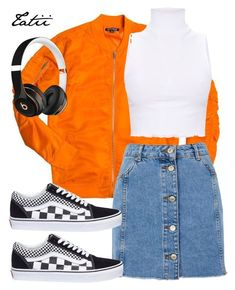 """""""Sem título #92"""" by tatianabraolis on Polyvore featuring moda, Topshop, Vans e Beats by Dr. Dre"""