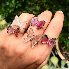 @by_couture. Tourmaline Butterfly Rings @rubylanecom