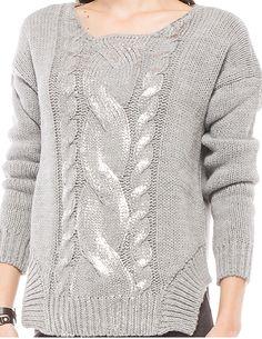 chaleco gris tejido