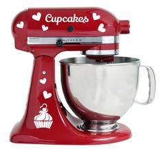 I Love Cupcakes With Hearts Design Kitchenaid Mixer Mixing Machine Decal Art Wrap Flowers Bakery, Best Stand Mixer, Stand Mixers, Kitchenaid Stand Mixer, Watermelon Fruit, Watermelon Patch, Love Cupcakes, Cupcakes Design, Thing 1