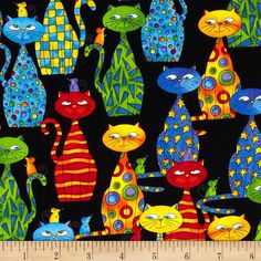Love My Cats fabric By Timeless Treasures Sold Per Fat Quarters for Quilting/Crafting/Decorating/Jewelry making/Clothing/Home Decor accents. by tambocollection on Etsy https://www.etsy.com/listing/225012821/love-my-cats-fabric-by-timeless