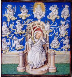 Arbre de Jessé : représentation de la généalogie royale du Christ. 75
