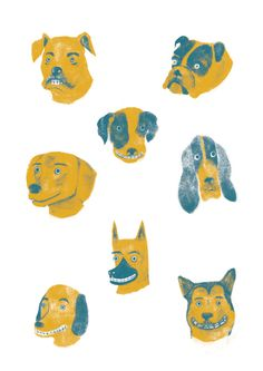 Dog Breeds Poster by Lorenzo Gritti, via Behance