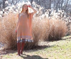 Soft Silk & Cashmere Boho Gypsy Kaftan Dress by RubyChicOriginals. Idea: make a dress-poncho from an old pashmina.