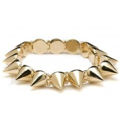 Cc Skye Mercy Spike Bracelet In Gold ($185) ❤ liked on Polyvore