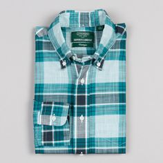 GITMAN VINTAGE ARCHIVE MADRAS BUTTON DOWN TEAL | Supply & Advise