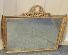 c1920s Art DECO Large MIRROR   Gilt Gold Wood by PremierAntiquesNY, $265.00