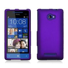 Bargain HTC Windows Phone 8X [Verizon, AT & T T-Mobile] Rubberized Hard Shell Case (Purple)