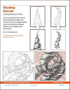 3388 best zen tangle patterns images on pinterest doodles 3d zentangle shading narwal pdf ebook fandeluxe Image collections
