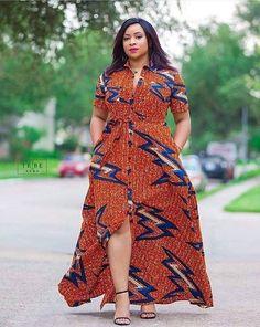 Women's dress, long gown, Ankara dress, shirt dress, button down dress,African print, women fashion,