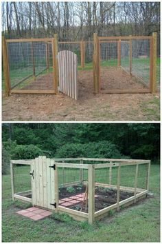 Chicken Coop - Garden Decoration Ideas: Cheap Fence Ideas, Garden Fence, Backyard Designs Fence Building a chicken coop does not have to be tricky nor does it have to set you back a ton of scratch. Diy Garden Fence, Veg Garden, Easy Garden, Raised Garden Beds, Raised Beds, Cheap Garden Fencing, Garden Gate, Vege Garden Ideas, Raised Bed Garden Layout