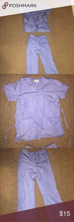 Seal Blue Scrubs Seal blue scrubs Small but could fit medium too  Top ties in back for various tightness Worn once  **get a FREE ITEM with this purchase! Pick any item on my page listed for 9$ or less and get it free in this package!** Other