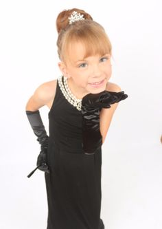 The Audrey Hepburn kids dress and accessories set is made as mini version of the original costume kit that completes your kids' Holly Golightly look. Audrey Hepburn Kids, Audrey Hepburn Costume, Breakfast At Tiffany's Costume, Girls Black Dress, Halloween Costumes, Cold Shoulder Dress, Flower Girl Dresses, Glamour, Wedding Dresses
