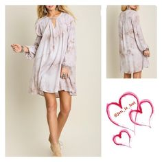 ARRIVING SOON Stone A-Line Dress S,M,L Tie Dye is the Key A-Line Dress *Strut your stuff in this dress and don't be alarmed if a lot of people ask you where you got your dress from! Material is a cotton blend. * Color is Stone Dresses Midi