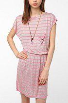 BDG Knit Neon Stripe Tee Dress   #UrbanOutfitters