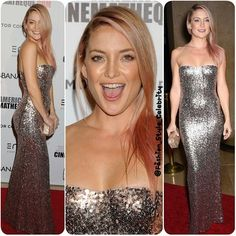 #katehudson #silver #gold #golden #love #smile #metallic #metallicdress #highlights #clutch #fashion #style #celebrity #celebritylook #fashionista #fashionicon #beautiful #pretty #ombre #stylish #lookbook #look #ootd #outfit #heels #shoes #makeup #awesome #swag #awesome... - Celebrity Fashion
