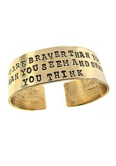 Remember You Are Braver Cuff