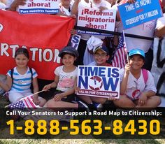 The time is now! A bill for a commonsense immigration process is here and it includes a road map to citizenship. Call your Senators and let them know you stand with aspiring Americans and you support a road map to citizenship.