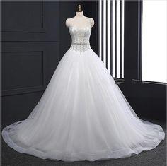 Bridal Sexy Luxury Ball Gown Wedding Dresses Princess