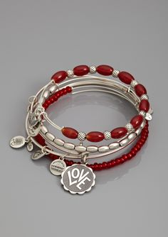 ALEX & ANI Love Charm Bangle Set of 5