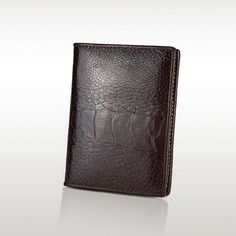 100% genuine ostrich leather bifold wallet, classic man wallet