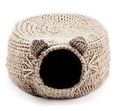 Casas de ganchillo para gatos: fotos ideas - Casas iglú para gatos tejidas a crochet