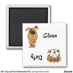 AE- Dog and Cat Dishwasher Magnet