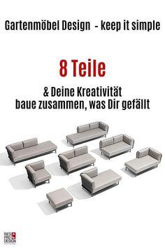 Edelstahl Outdoor Sofa modular aus ausgesuchten europäischen Materialien im Premiumbereich.  Klicke für mehr Info.  #gartenmoebel, #gartenmoebelgarnitur, #RiesProDesign