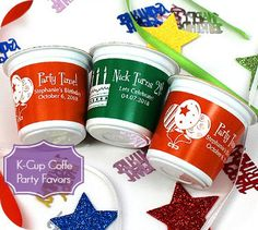 Personalized K-Cup Coffee Birthday Party Favors COUPON CODE saveme5