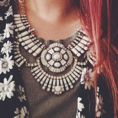 Cool statement necklace.