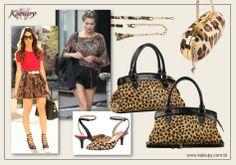 0d2c166b7 Looks Animal Print - Bolsas Femininas de Couro Kabupy, com estampa onça.  #Moda #AnimalPrint #Estampaonça #oncinha #Fashion #Acessorios  #BolsasFemininas # ...