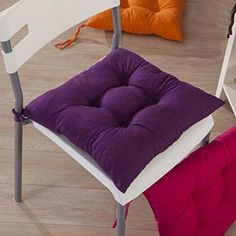 Gotd Indoor Garden Patio Home Kitchen Office Chair Pads Seat Pads Cushion Purple -- See this great product. Slipcovers For Chairs, Patio Chairs, Dining Room Chairs, Seat Pads, Chair Pads, Purple Kitchen, Office Seating, Buy Chair, Parsons Chairs
