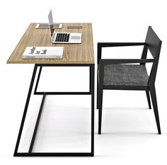 Отличный стол рабочий D-2 из металла и дерева по доступной цене в Киеве. Дерево обработано маслом, каркас окрашено прочной полимерной краской