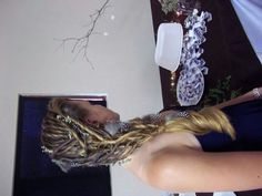 My daughters hair done for a friends wedding
