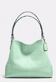 COACH 35723 ~ PHOEBE HOBO Shoulder Bag ~ SEAGLASS Pebbled Leather ~ NWT $395 #Coach #Hobo