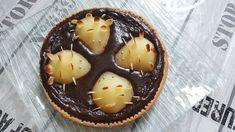 "Tarte poire chocolat ""hérissons"" Pie, Pudding, Desserts, Food, Kawaii, Sweet Pie, Tarts, Seasonal Fruits, Torte"